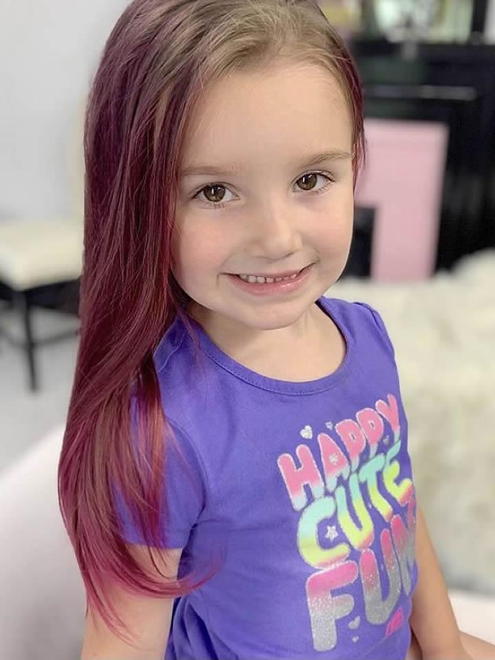 Girl's Hair Coloring